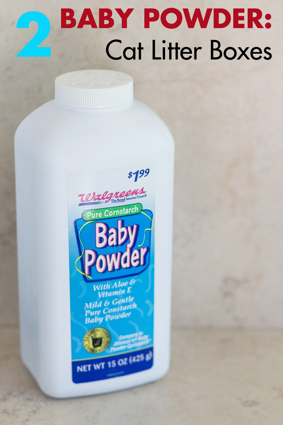 Baby Powder to Deodorize Cat Boxes