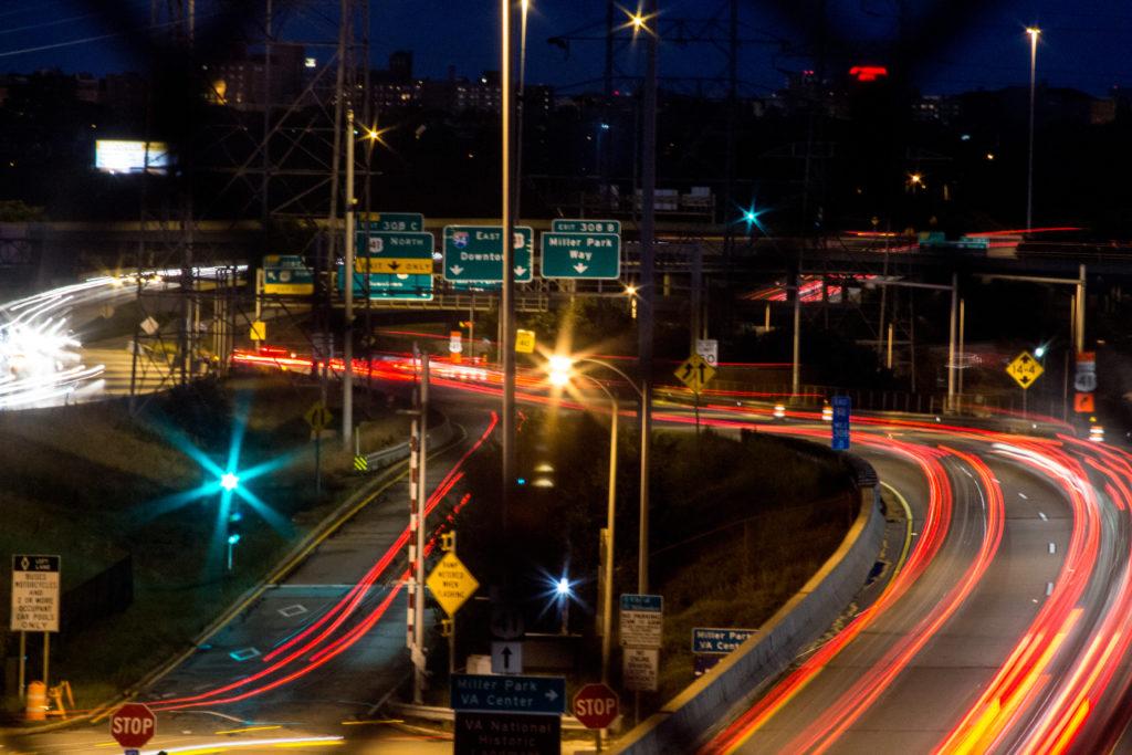 I-94 Car Light Trails