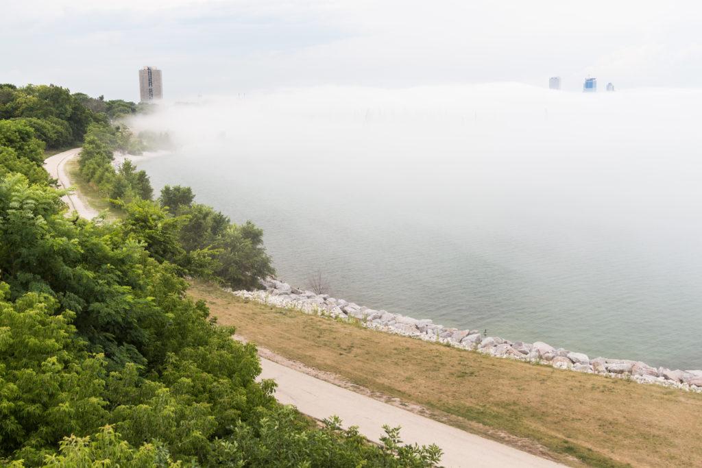 Milwaukee Skyline in the Fog