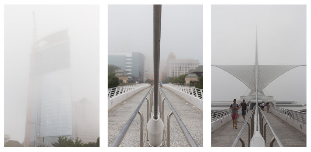 Milwaukee in the Fog July 2016 Collage