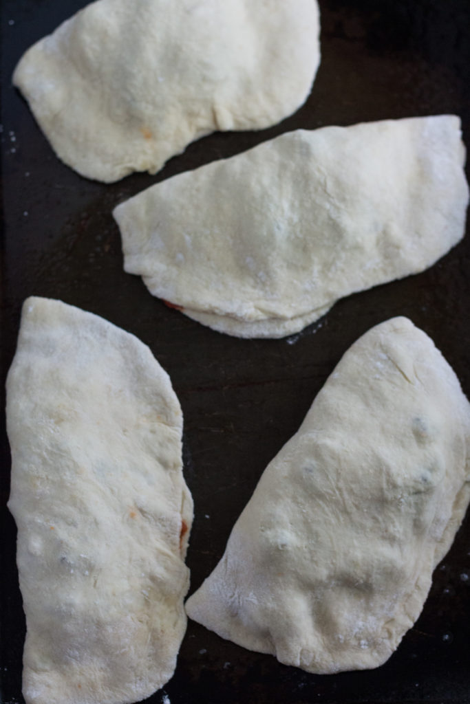 Pizza Calzones With Sausage, Pepperoni and, Onion | https://www.roseclearfield.com