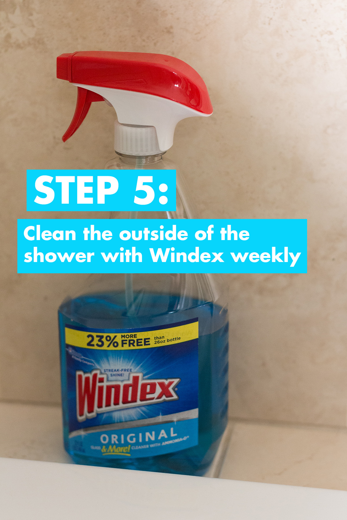 Glass Shower Cleaning Step 5
