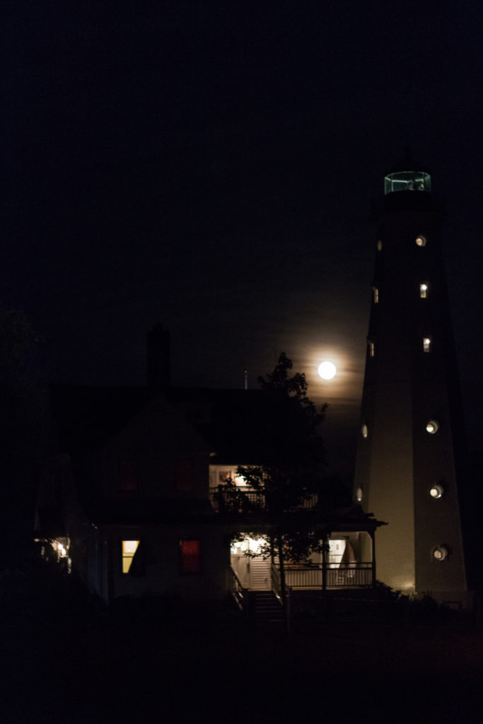North Point Lighthouse for Full Moon August 2016