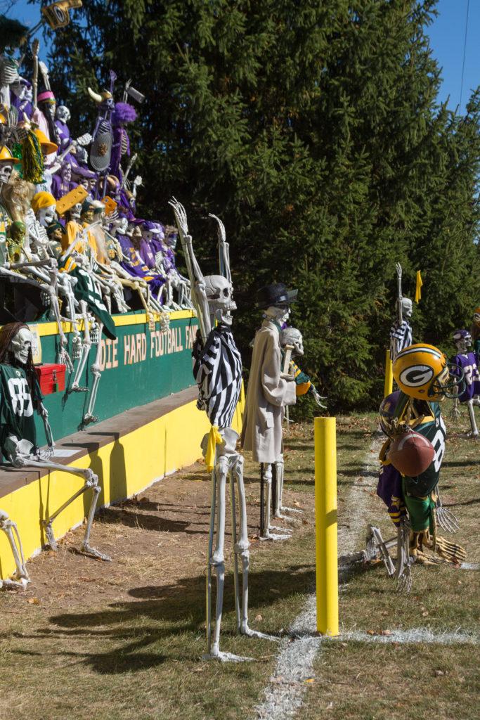 Jimmy Zamzow's Packers vs Vikings Skull Bowl in Hubertus, WI | https://www.roseclearfield.com