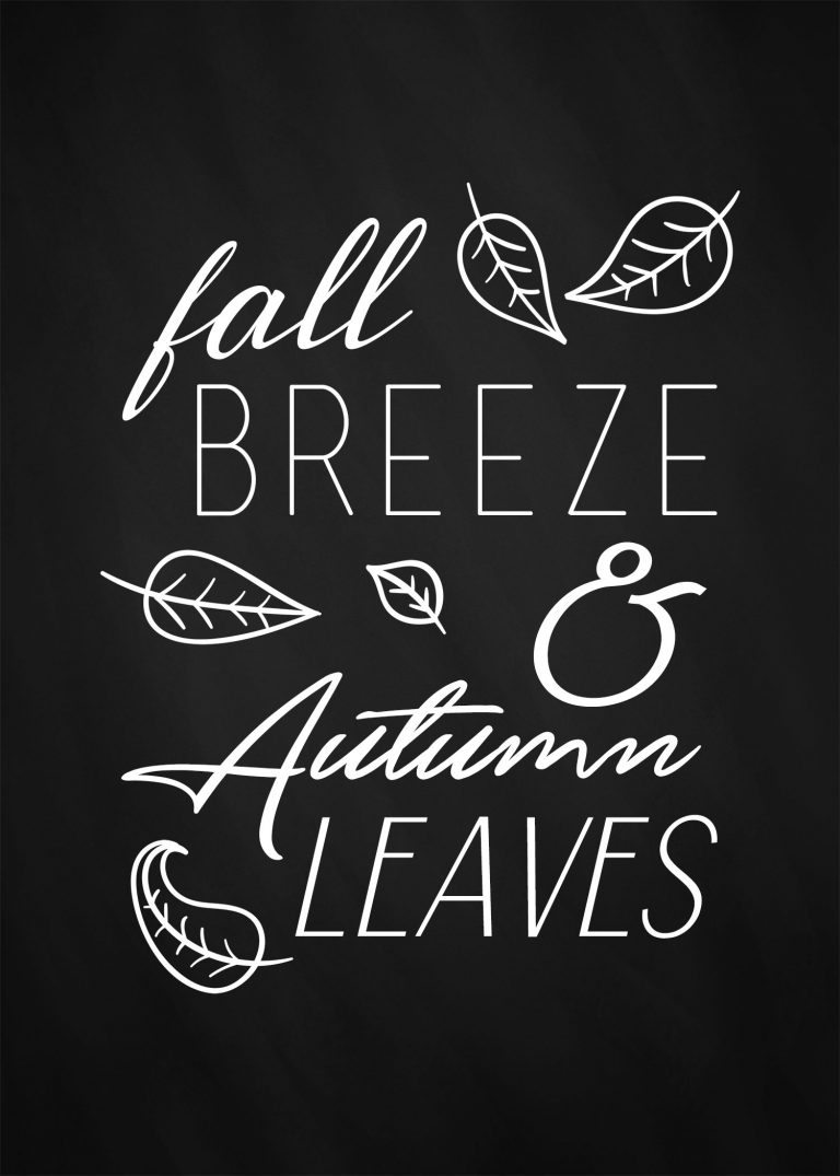 Fall Breeze and Autumn Leaves