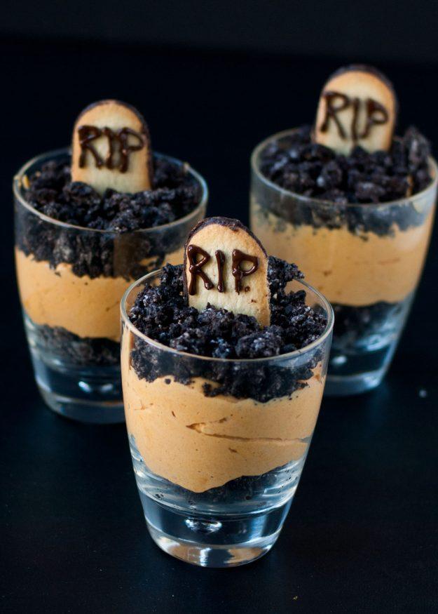 Pumpkin Dirt Pudding Graveyard Parfaits Neighbor Food Blog