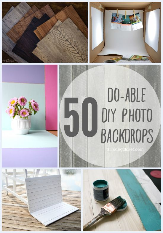 50 Do-Able DIY Photo Backdrops from thinkingcloset.com via roseclearfield.com