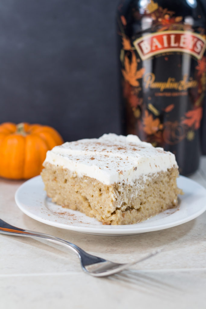 Bailey's Pumpkin Spice Tres Leches Cake | https://www.roseclearfield.com