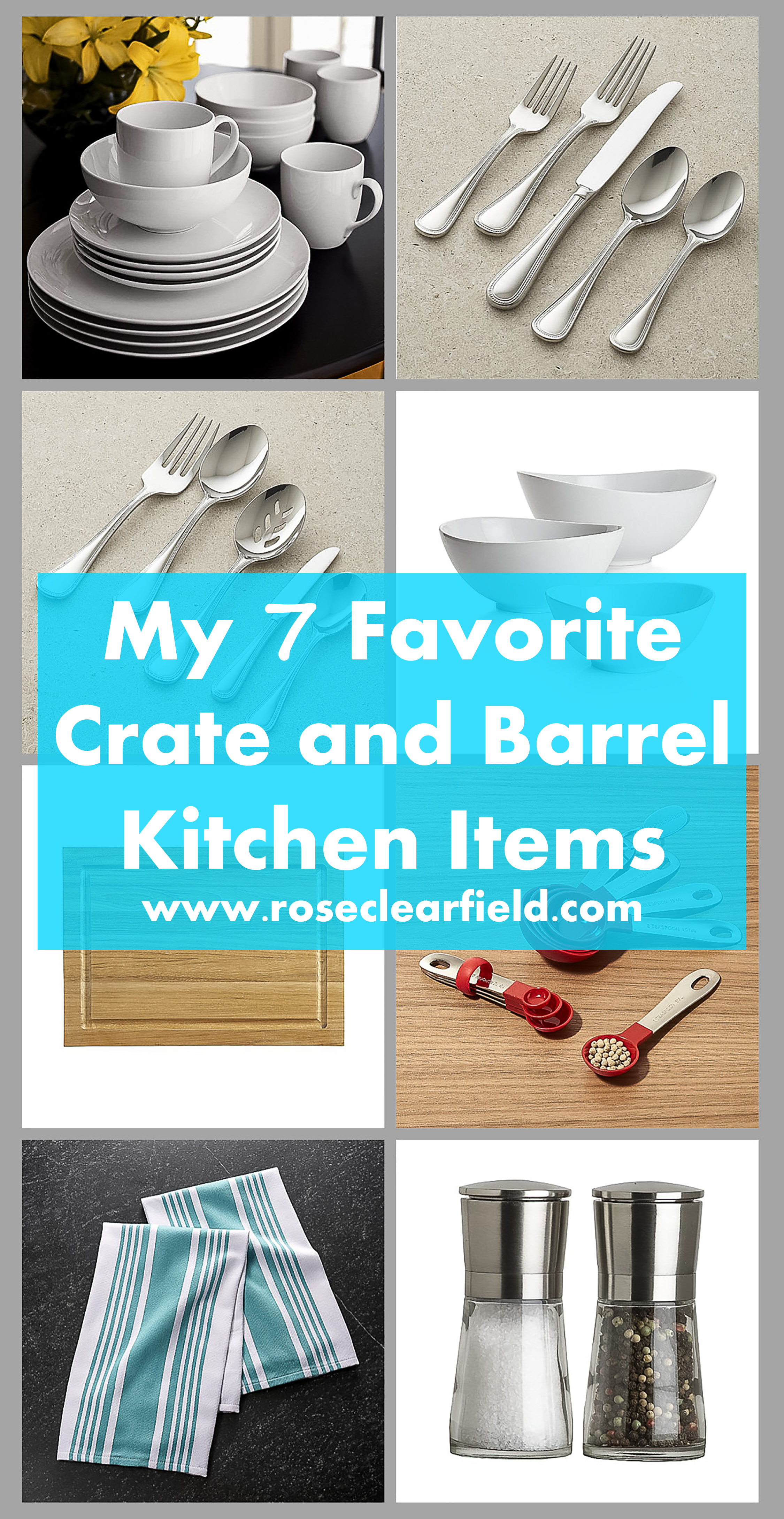 My 7 Favorite Staple Crate and Barrel Kitchen Items | https://www.roseclearfield.com