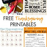 Free Thanksgiving Printables Round-Up