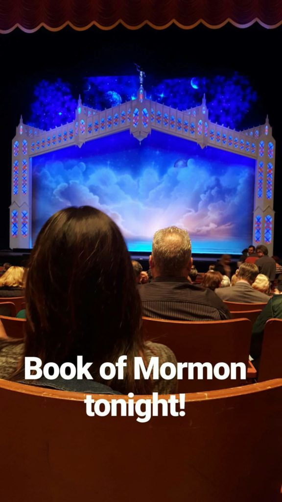 Book of Mormon at the Marcus Center for the Performing Arts, Milwaukee, WI October 2016   https://www.roseclearfield.com