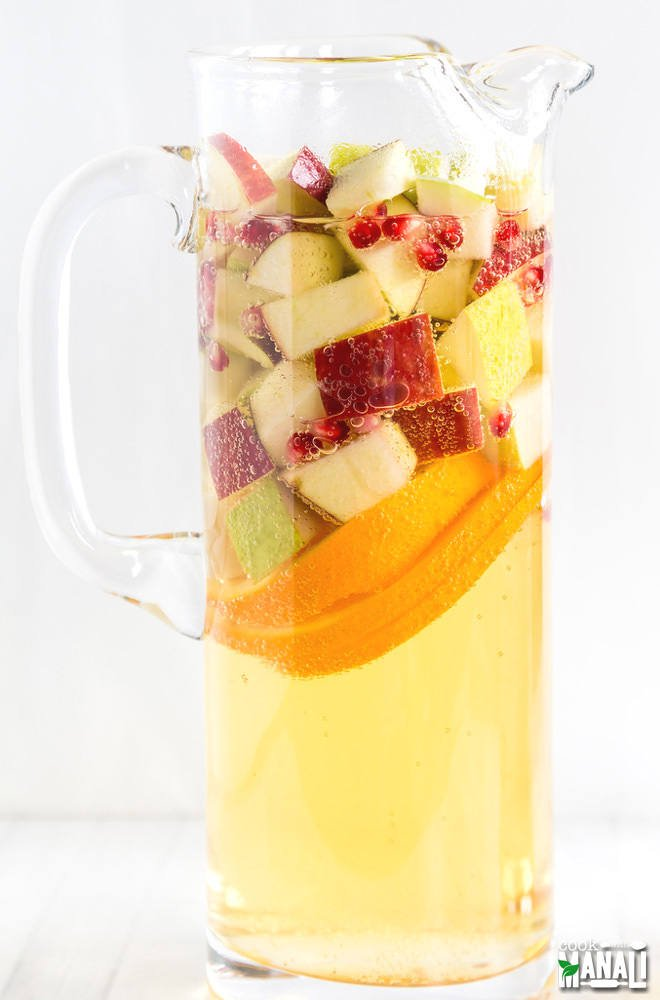 Non-Alcoholic Apple Cider Sangria Cook with Manali