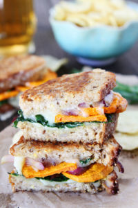Fall and Winter Grilled Cheese Recipes - Sweet Potato and Kale Grilled Cheese - twopeasandtheirpod.com   https://www.roseclearfield.com