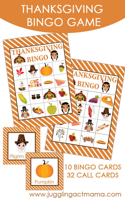 Thanksgiving Bingo Game Miss Information Blog