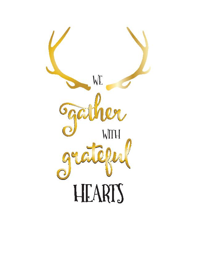 We Gather with Grateful Hearts Free Thanksgiving Printable