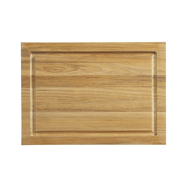 My 7 Favorite Staple Crate and Barrel Kitchen Items - Teak Cutting Board | https://www.roseclearfield.com