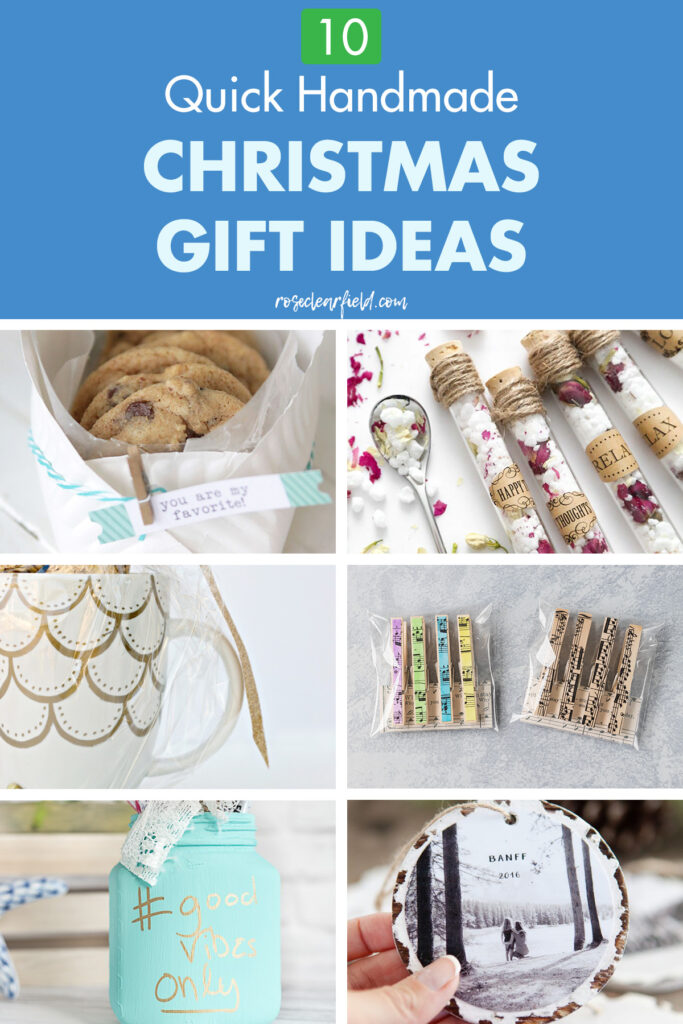 10 Quick Handmade Christmas Gift Ideas