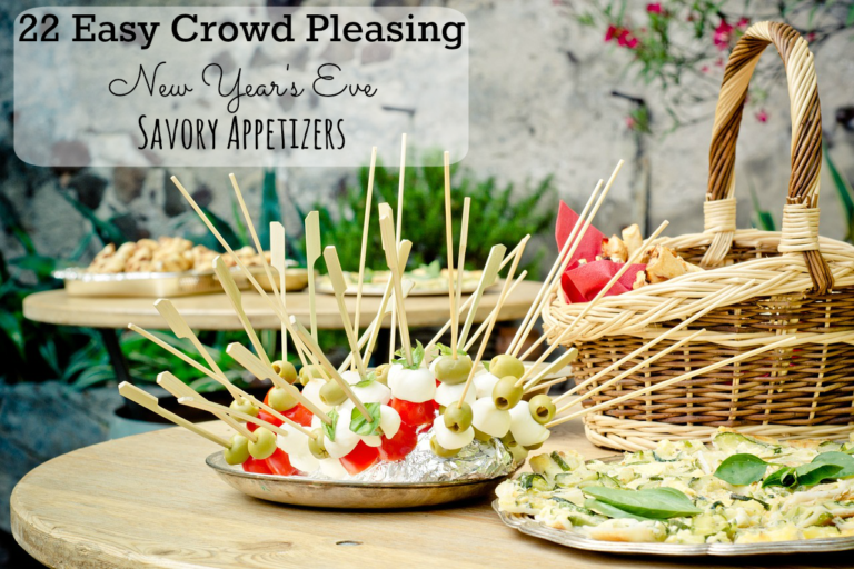 Last-Minute New Year's Eve Party Ideas - 22 Savory Appetizers | https://www.roseclearfield.com