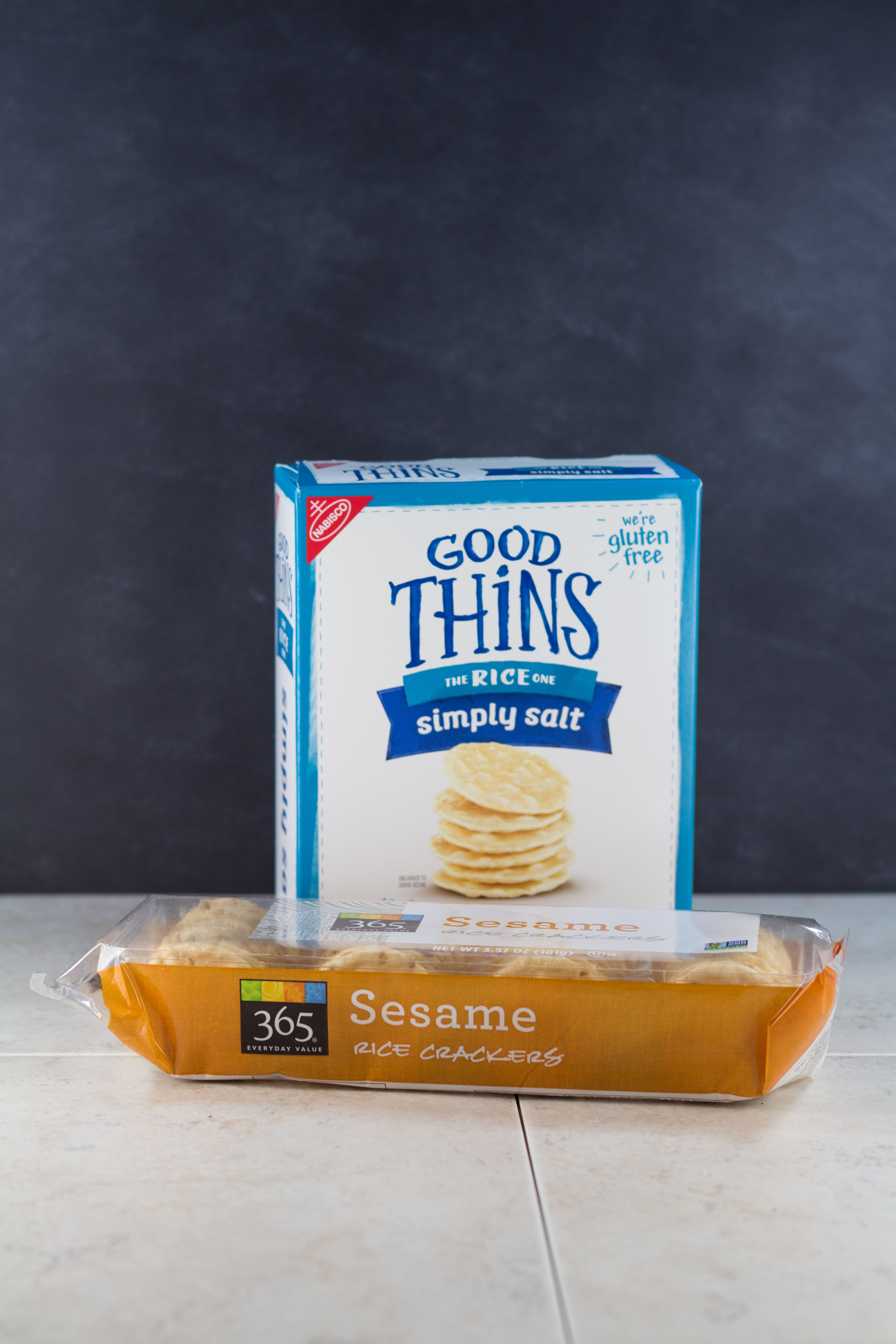 Gluten-free sesame rice crackers are perfect for dipping in hummus. | https://www.roseclearfield.com