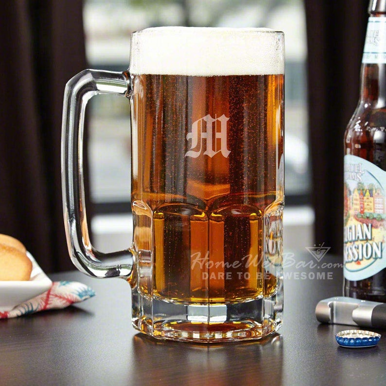 Colossal Engraved Beer Mug HomeWetBar on Etsy