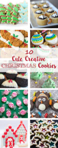 10 Cute Creative Christmas Cookies. Baking recipes for the entire holiday season! | https://www.roseclearfield.com