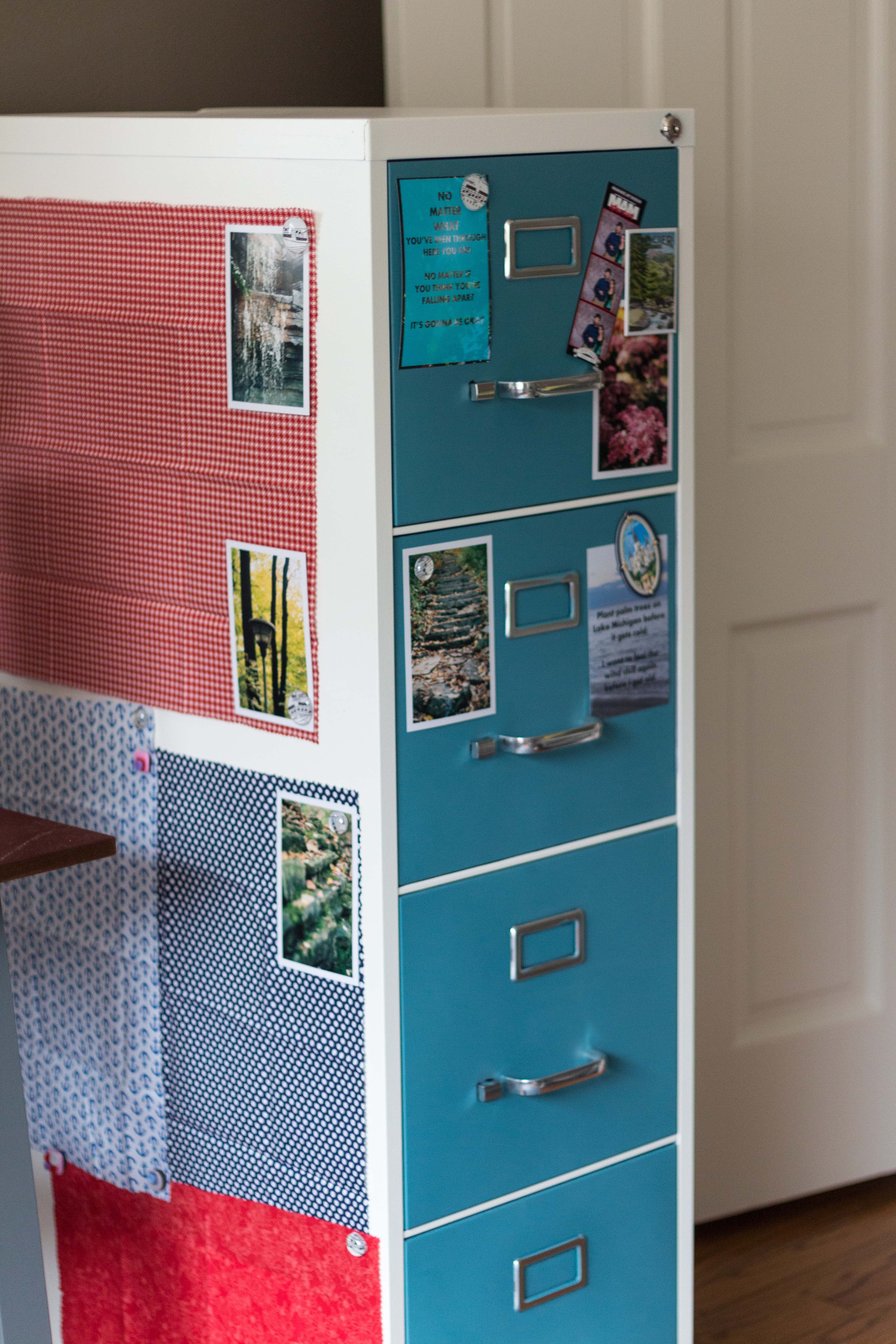 How to Paint and Makeover a Metal File Cabinet DIY Tutorial | https://www.roseclearfield.com
