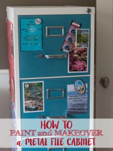 DIY How to Paint and Makeover a Metal File Cabinet | https://www.roseclearfield.com