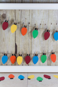 DIY Paper Christmas Lights Decoration | https://www.roseclearfield.com