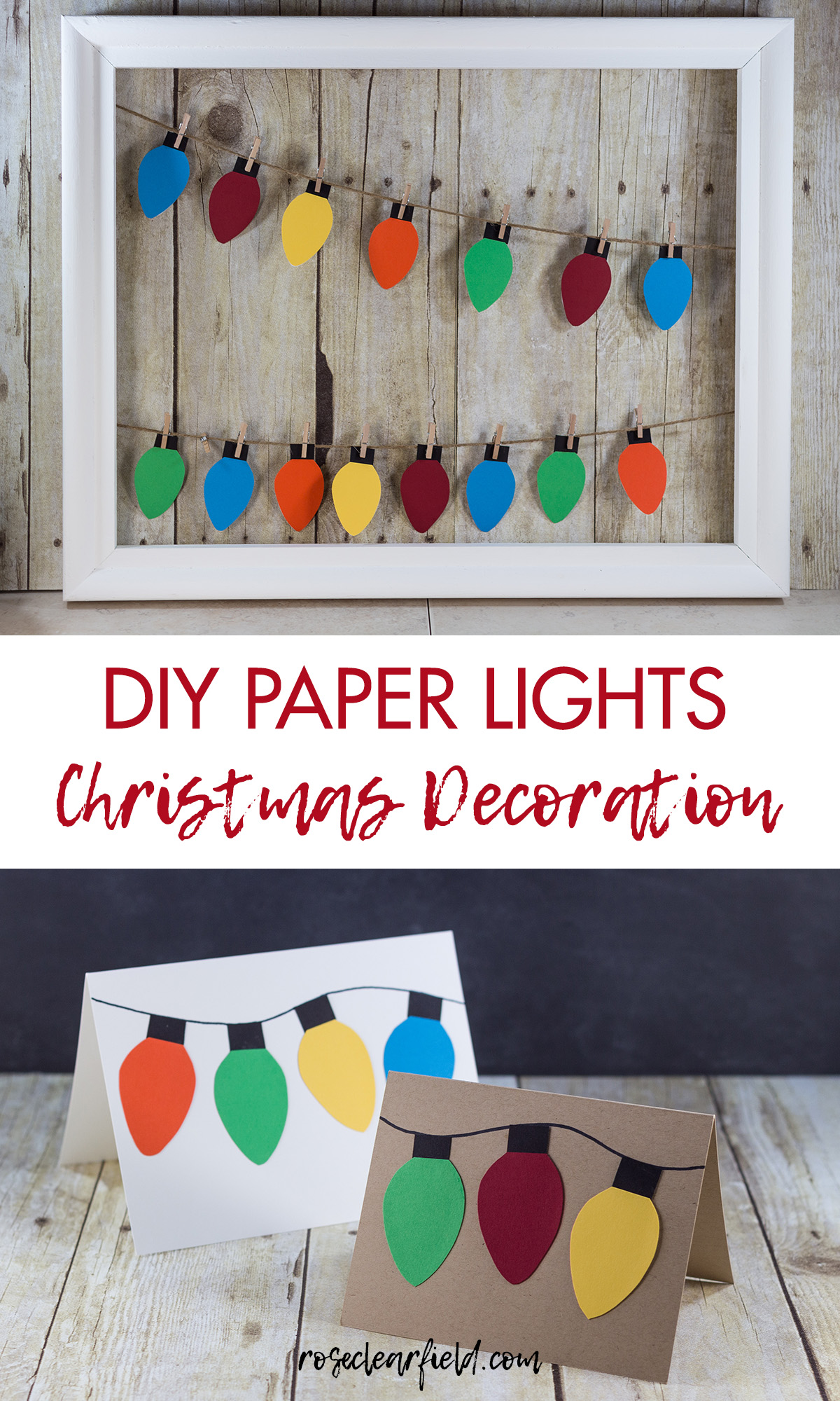 DIY Paper Lights Christmas Decoration