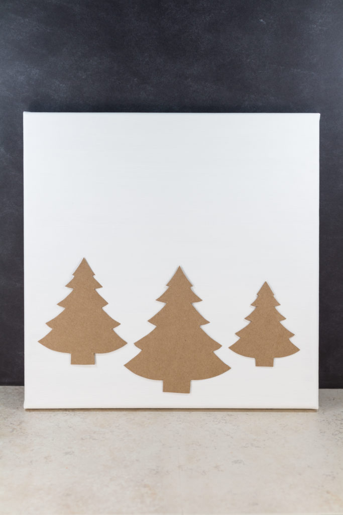 Diy Pine Tree Holiday Decor Canvas Wall Art Rose Clearfield
