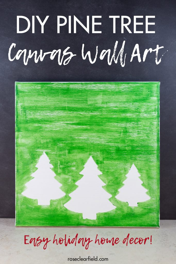 DIY Pine Tree Holiday Decor Wall Art