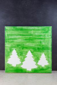 DIY Pine Tree Holiday Decor Canvas Wall Art