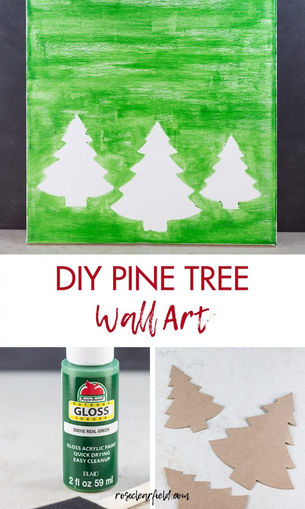 DIY Pine Tree Holiday Decor Wall Art