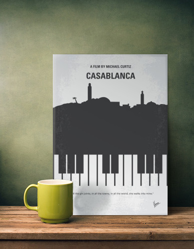 Holiday Gift Guide for Him - Displate Casablanca Minimal Movie Poster | https://www.roseclearfield.com