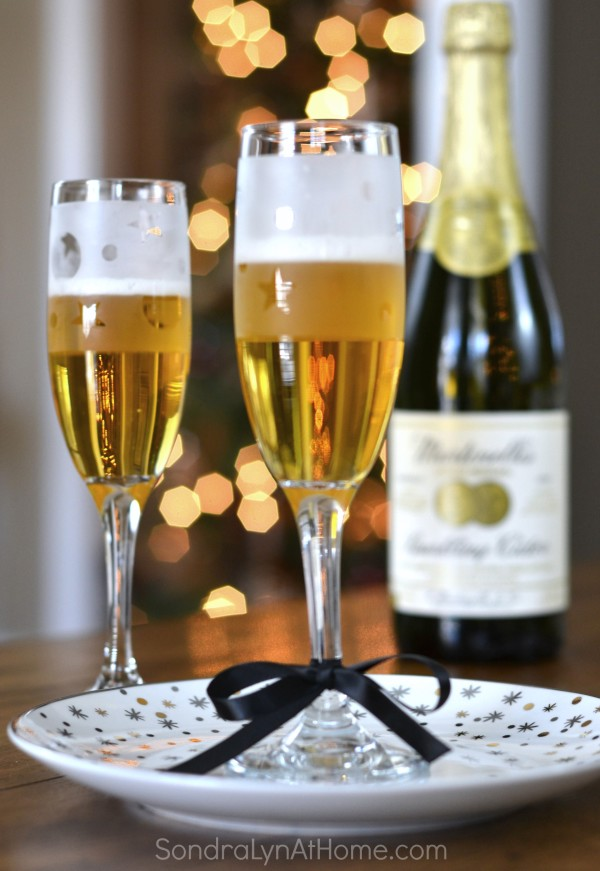 Etched Glass Champagne Flute DIY-Party Favors Sondra Lyn at Home
