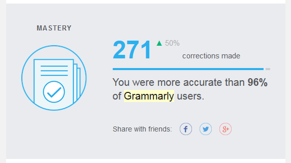 The weekly Grammarly report includes a mastery or accuracy statistic.   https://www.roseclearfield.com
