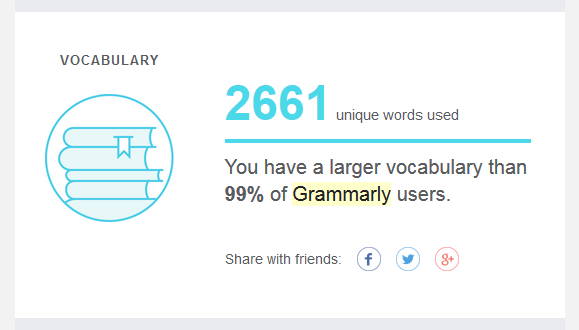 The weekly Grammarly report includes a vocabulary statistic.   https://www.roseclearfield.com