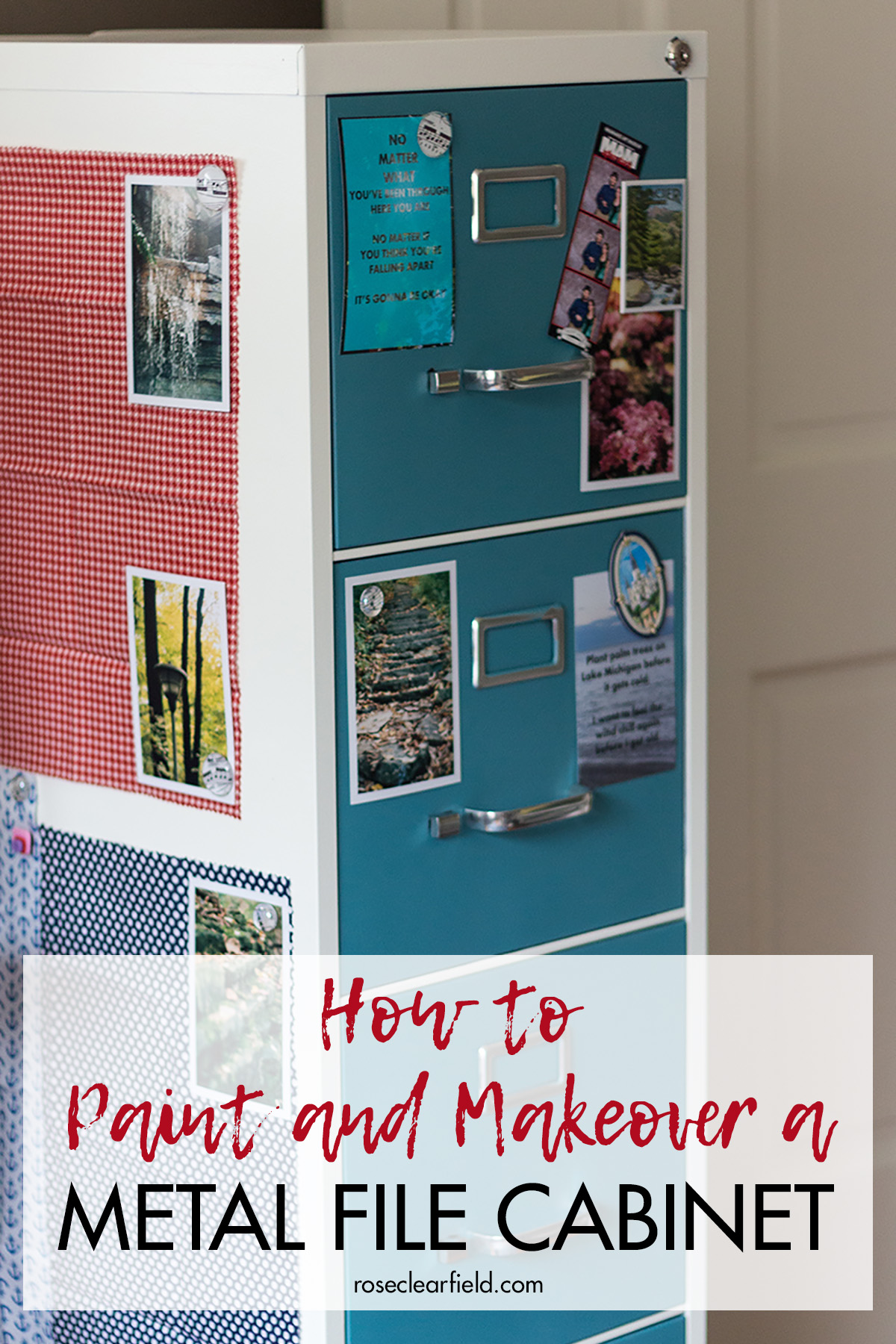 How To Paint And Makeover A Metal File Cabinet Rose Clearfield