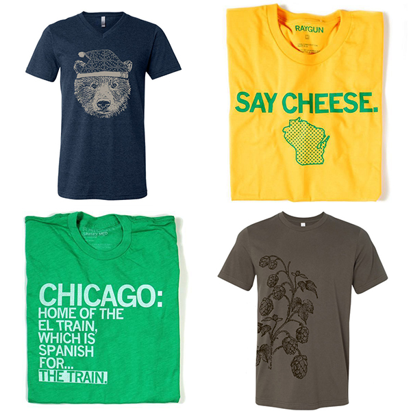 Holiday Gift Guide for Him - t-shirts from ZenThreads and Raygun. | https://www.roseclearfield.com