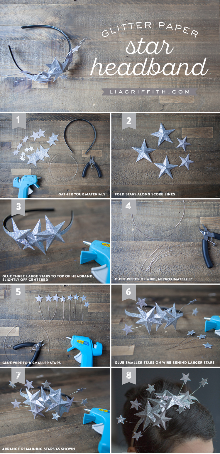 Last-Minute New Year's Eve Party Ideas - Paper Star Headband | https://www.roseclearfield.com