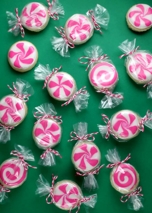 10 Cute Creative Christmas Cookies - Peppermint Candy Sugar Cookies | https://www.roseclearfield.com