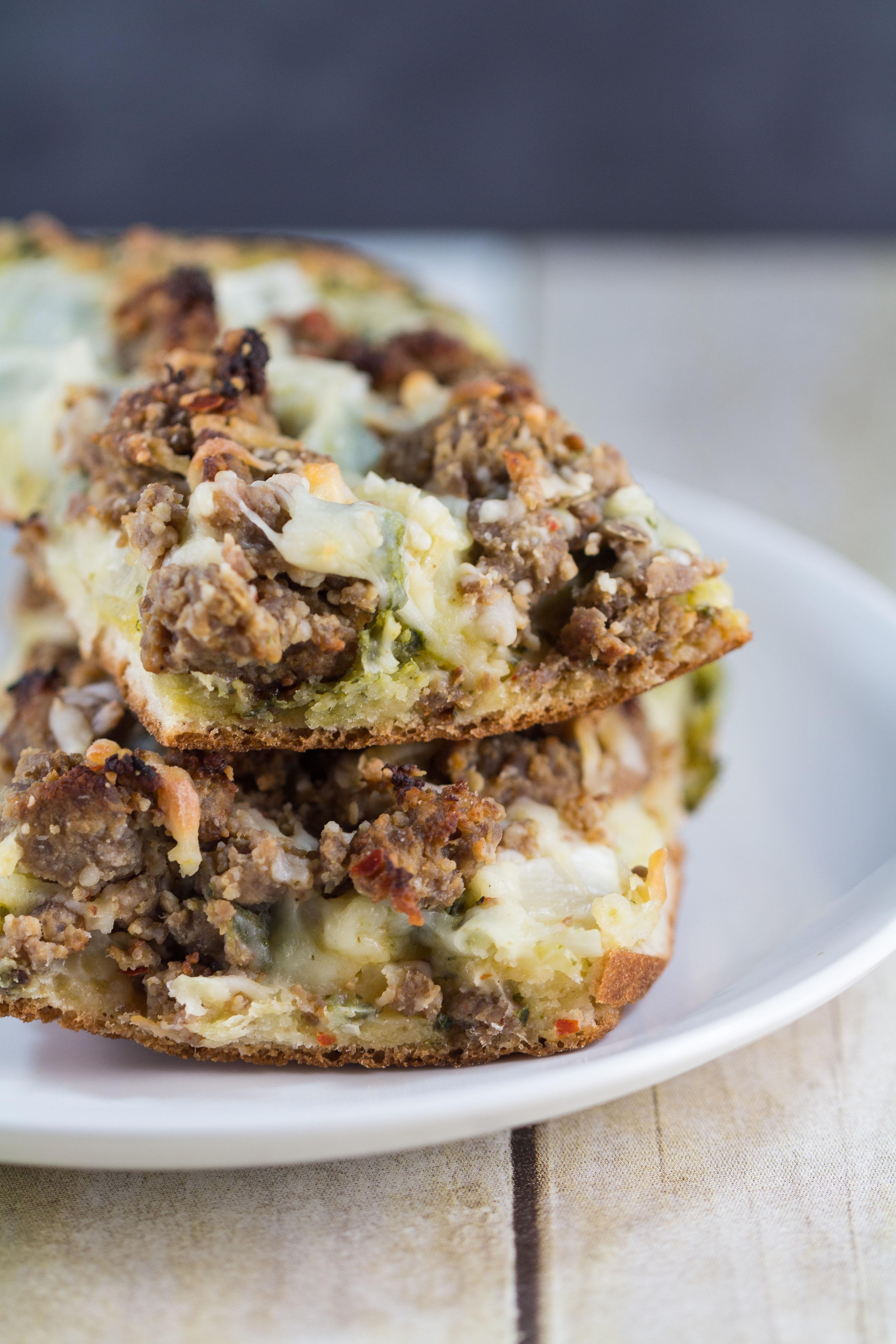 Pesto Mozzarella Pizza | https://www.roseclearfield.com