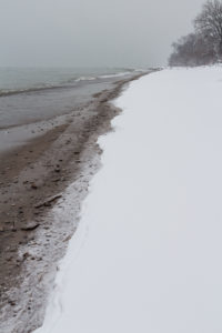 Snowfall on the Lake Michigan Beachfront in Southeast, WI   https://www.roseclearfield.com