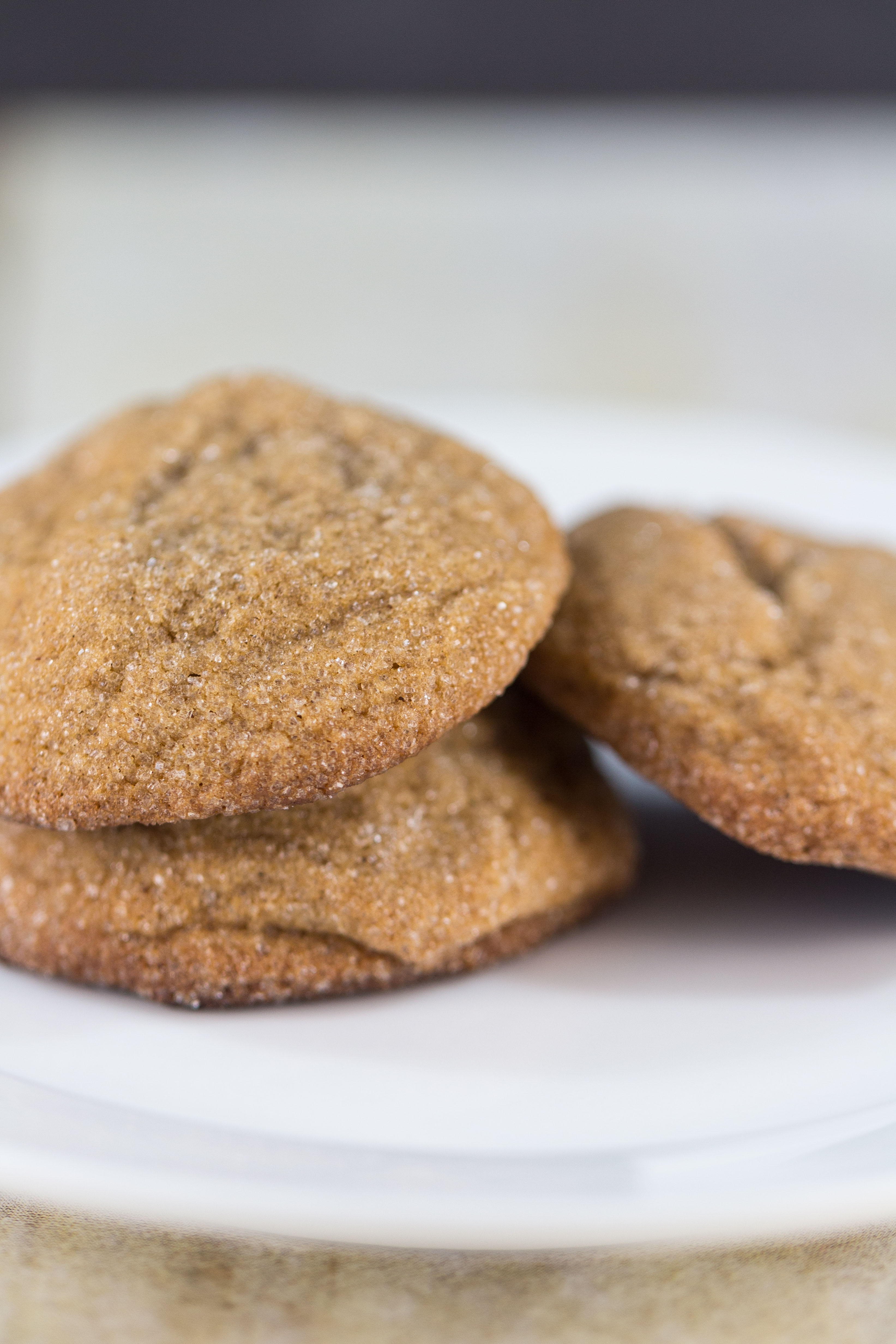 Two Peas and Their Pod's Soft Gingersnap Cookies | https://www.roseclearfield.com