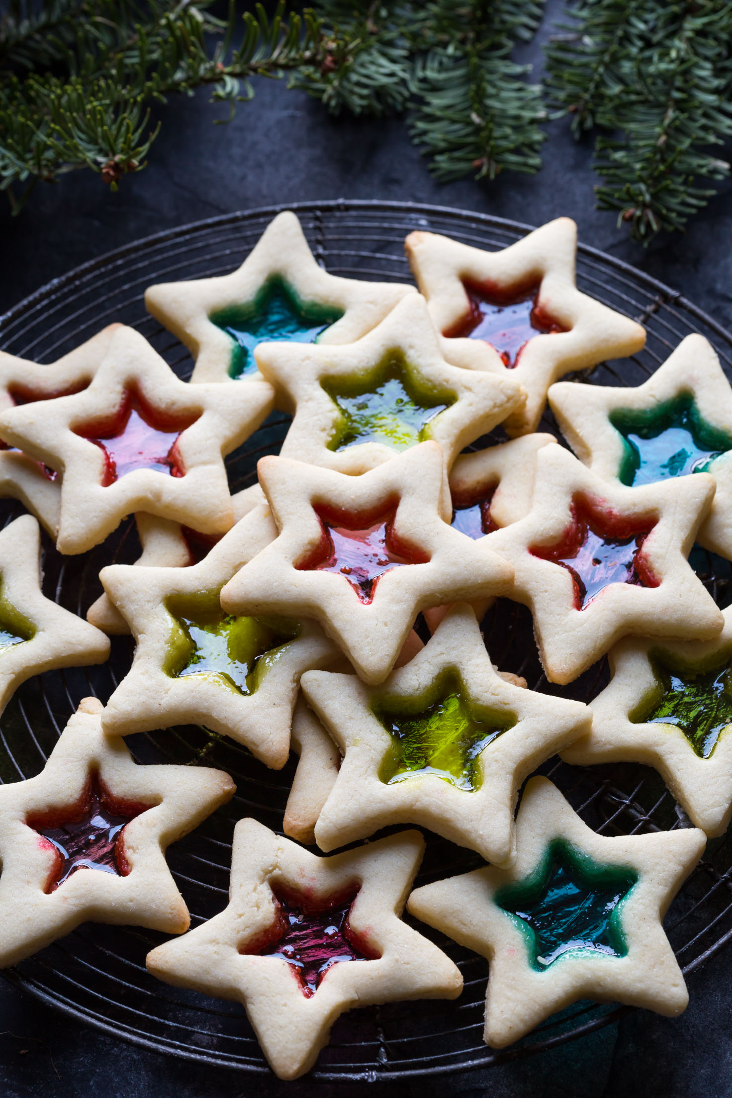 10 Cute Creative Christmas Cookies - Gluten Free Stained Glass Cookies | https://www.roseclearfield.com