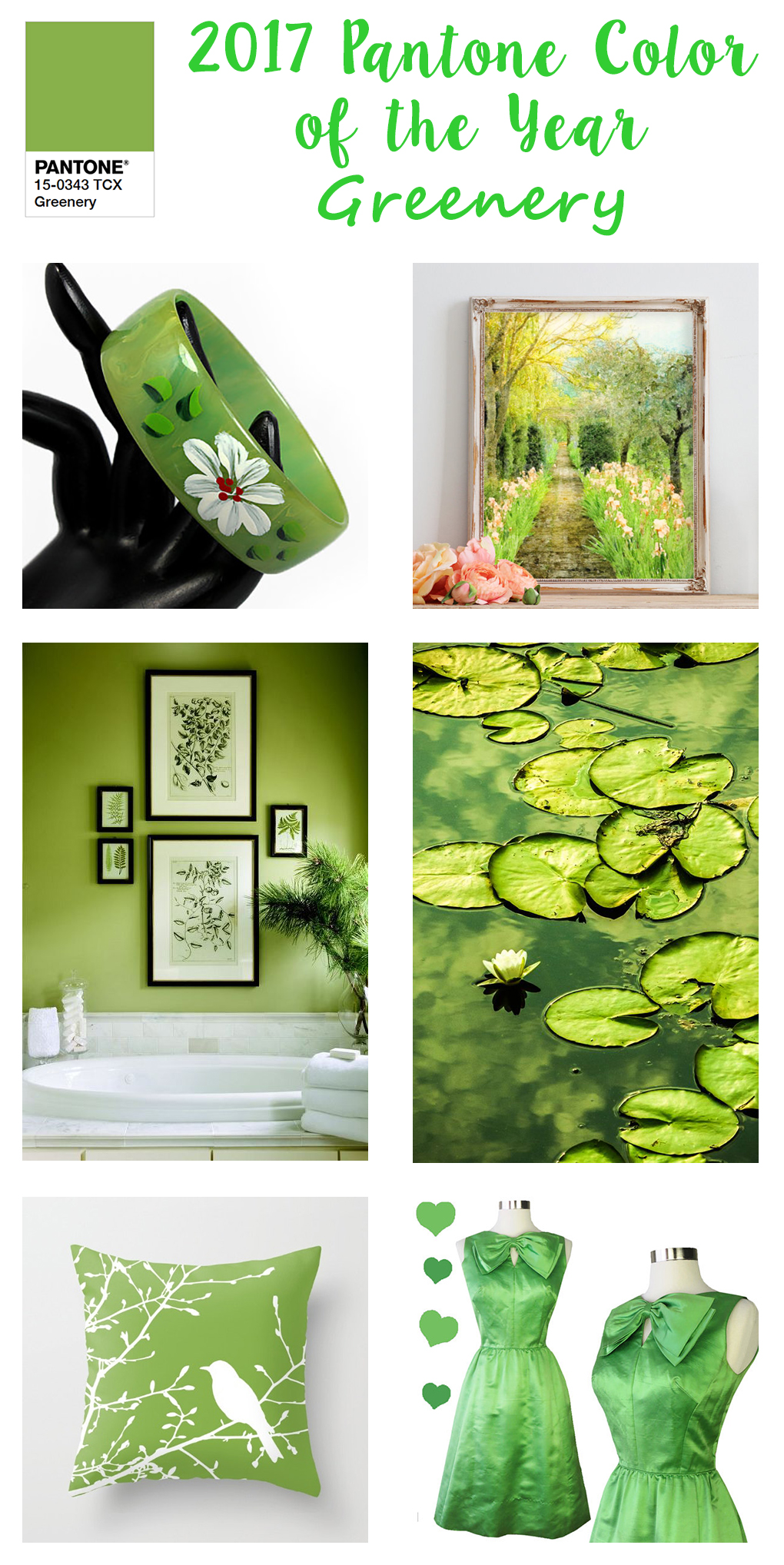 2017 Pantone Color Of The Year Greenery Inspiration Rose