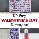 DIY Easy Valentine's Day Subway Wall Art