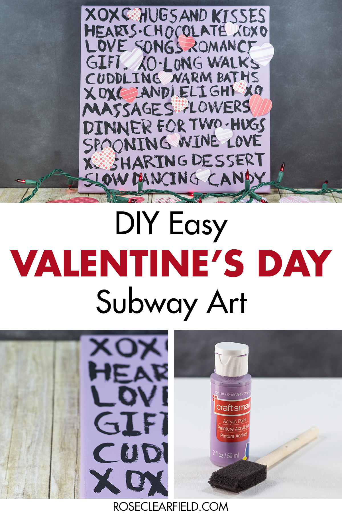 Diy Easy Valentine S Day Subway Wall Art Rose Clearfield