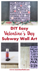 DIY Easy Valentine's Day Subway Wall Art | https://www.roseclearfield.com