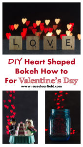 DIY Heart Shaped Bokeh How to for Valentine's Day   https://www.roseclearfield.com